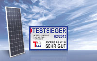 ANTARIS Photovoltaik-Modul ist Testsieger im Solarmodule-Vergleich