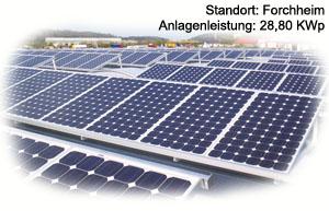 Photovoltaik Referenzobjekt Forchheim