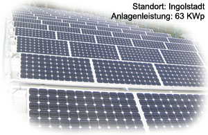 Photovoltaik Referenzanlage Kriegler/Ingolstadt