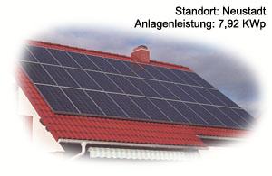 Photovoltaik Referenzanlage Schulze/Neustadt