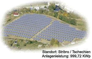 Photovoltaik Großanlage Stribo/Tschechien