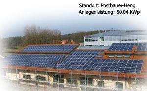 Photovoltaik Referenzobjekt Postbauer Heng