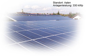 Photovoltaik Referenzanlage Aalen 330kwp build by Antaris