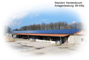 Photovoltaik Referenzanlage Kerstenbruch 99kWp build by Antaris