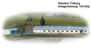 Photovoltaik Referenzanlage Spiegelhalter Freiburg 104 kWP build by Antaris