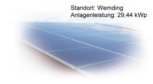 Photovoltaik Referenzanlage Wemding 29,44 kWp build by Antaris