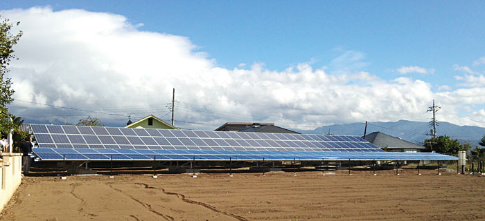 ANTARIS SOLAR-Freiflächenanlage der japanischen Cubby Corporation, Präfektur Yamanashi, Honshu