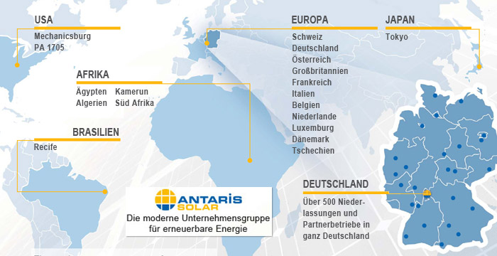 ANTARIS SOLAR die moderne Unternehmensgruppe für erneuerbare Energien (Standorte)